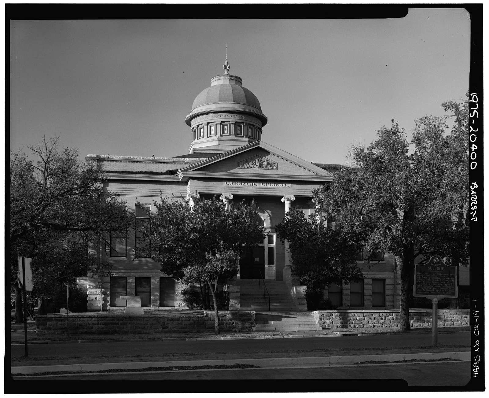 Carnegie Library, 402 East Oklahoma Avenue, Guthrie, Logan County, OK
