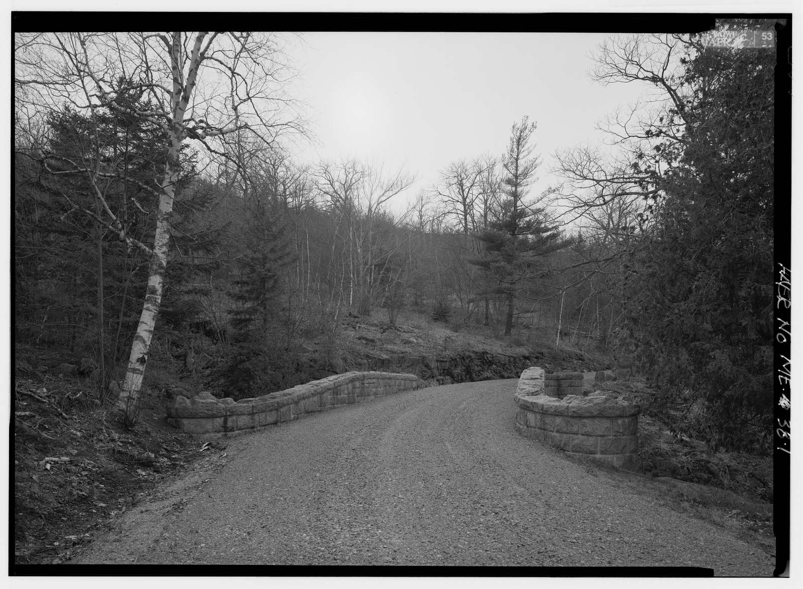 Chasm Brook Bridge, Spanning Chasm Brook on West Sargent Mountain Carriage Road, Bar Harbor, Hancock County, ME