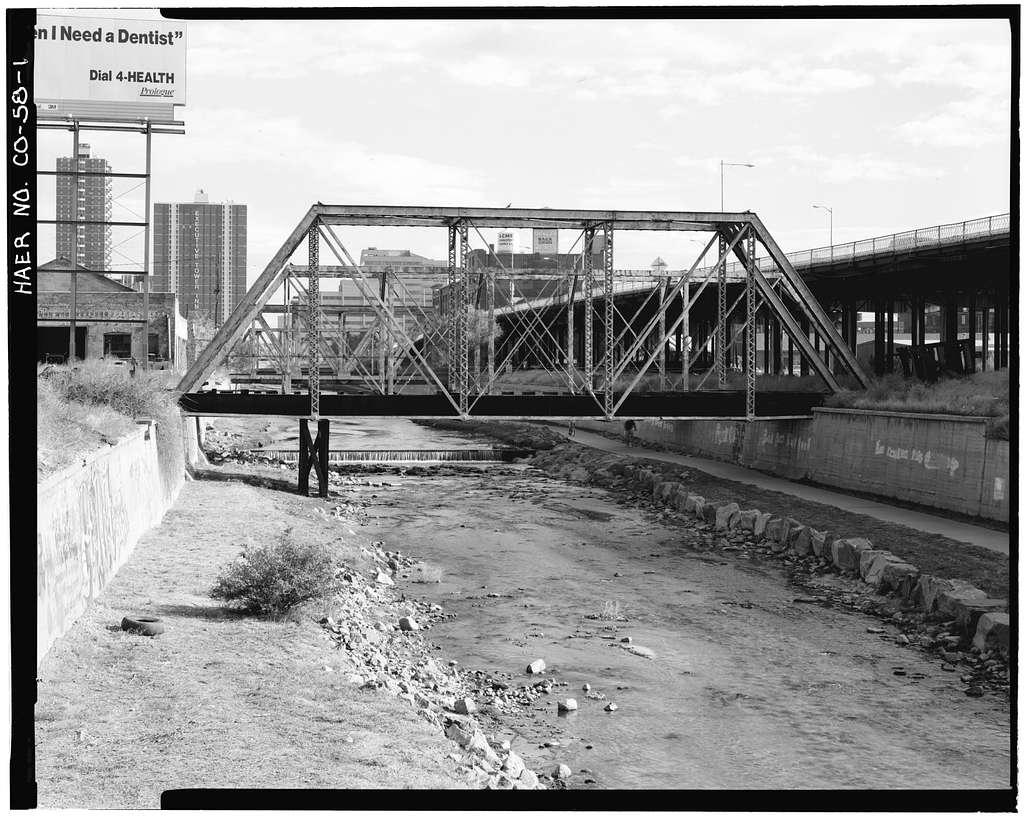 Cherry Creek Railroad Bridge, Spanning Cherry Creek, north of Delgany Street, Denver, Denver County, CO