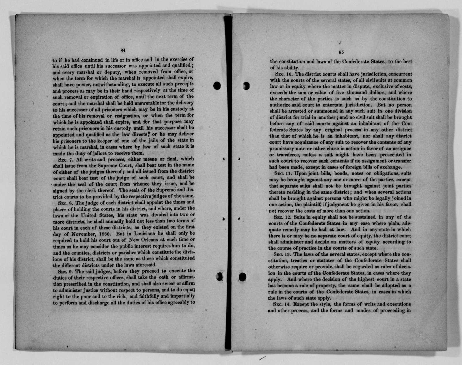 Confederate States of America records: Microfilm Reel 35