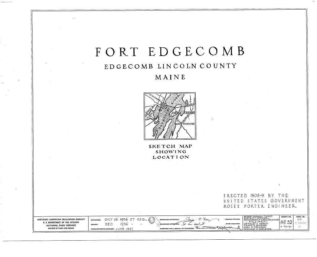 Fort Edgecomb Blockhouse, North Edgecomb, Lincoln County, ME