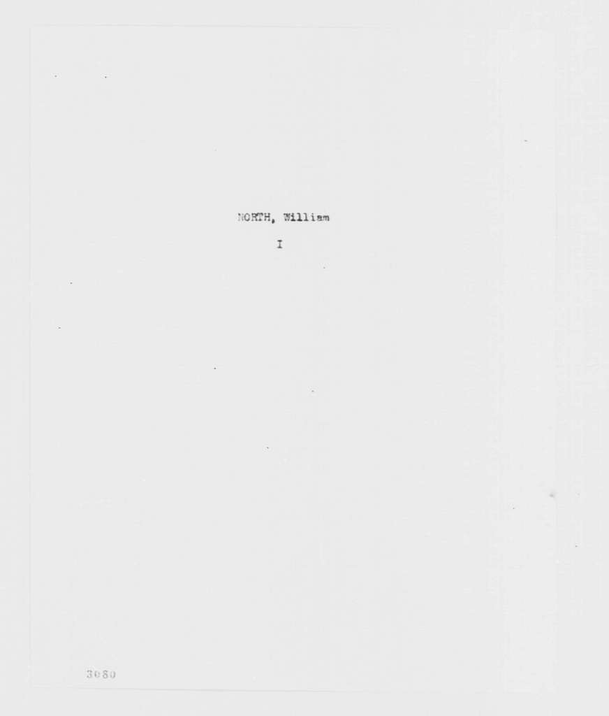George Washington Papers, Series 7, Applications for Office, 1789-1796: William North
