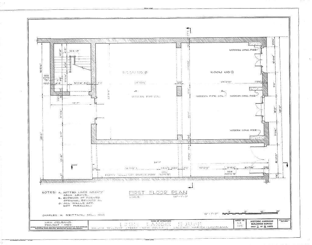 Louis Lanoix House, 514-516-518 Toulouse Street, New Orleans, Orleans Parish, LA