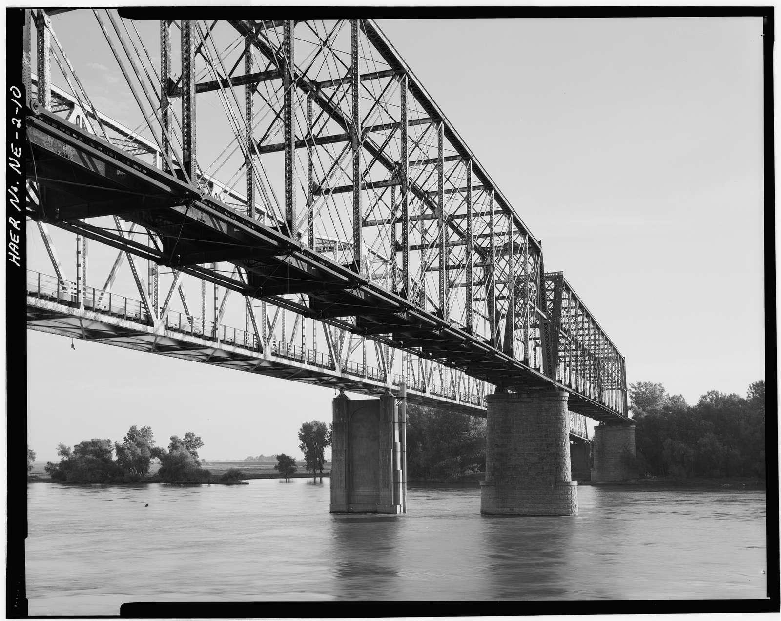 Nebraska City Bridge, Spanning Missouri River near Highway 2 between Nebraska & Iowa, Nebraska City, Otoe County, NE