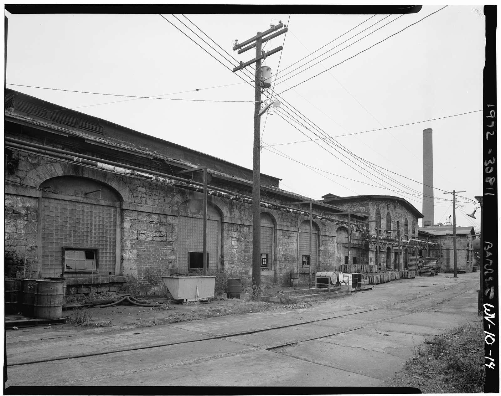 Northwestern Virginia (B&O) Railroad, Grafton Machine Shop & Foundry, U.S. 119 East of Tygart Valley River, Grafton, Taylor County, WV