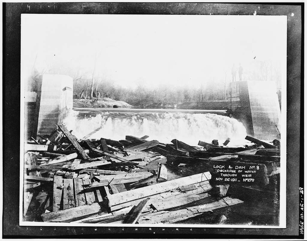 Ouachita River Lock & Dam No. 8, Ouachita River at River Mile 282.8, Calion, Union County, AR