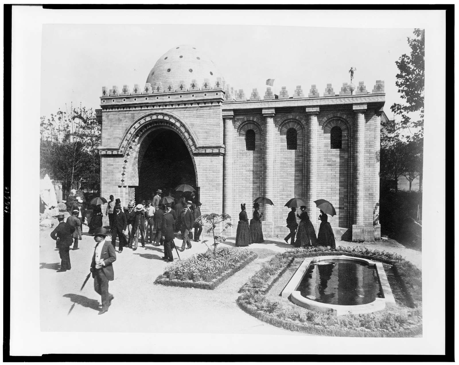 [Persian house in the History of Habitation exhibit, Paris Exposition, 1889]