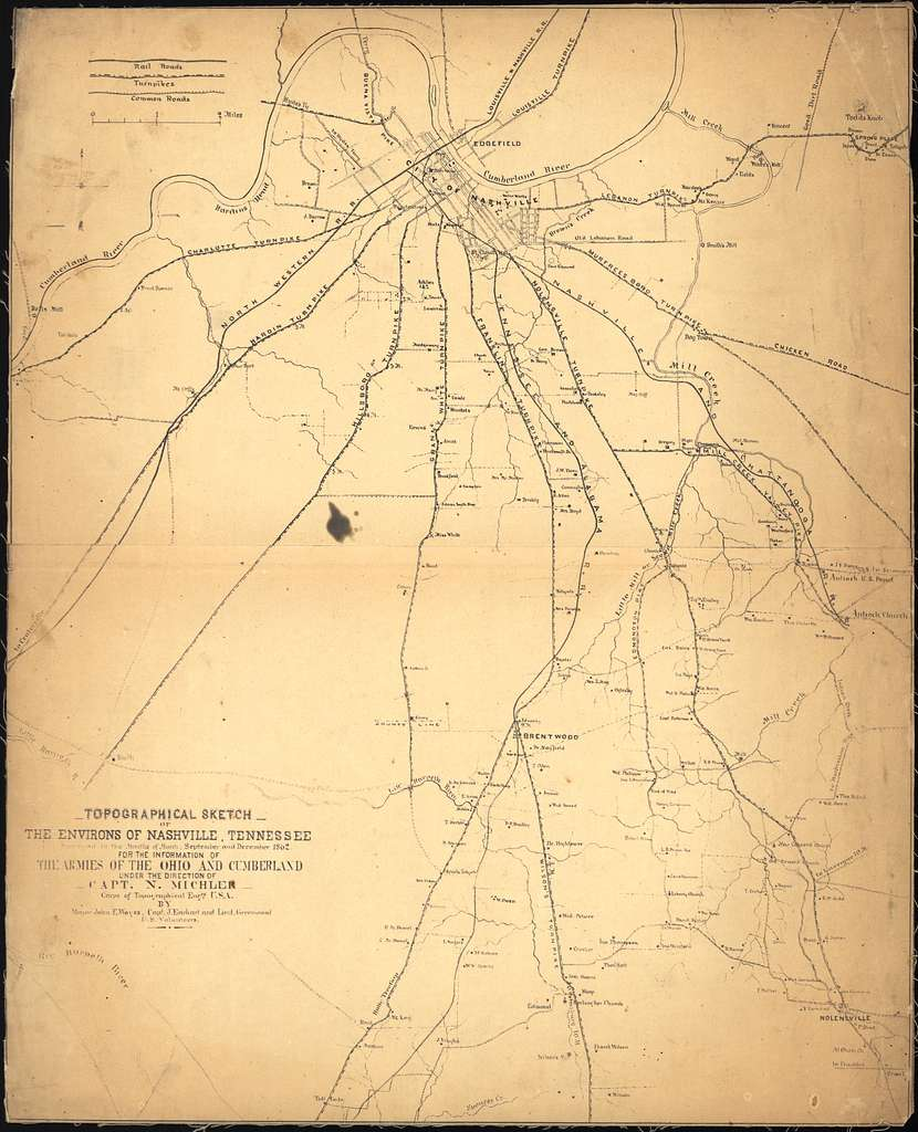 Topographical sketch of the environs of Nashville, Tennessee /