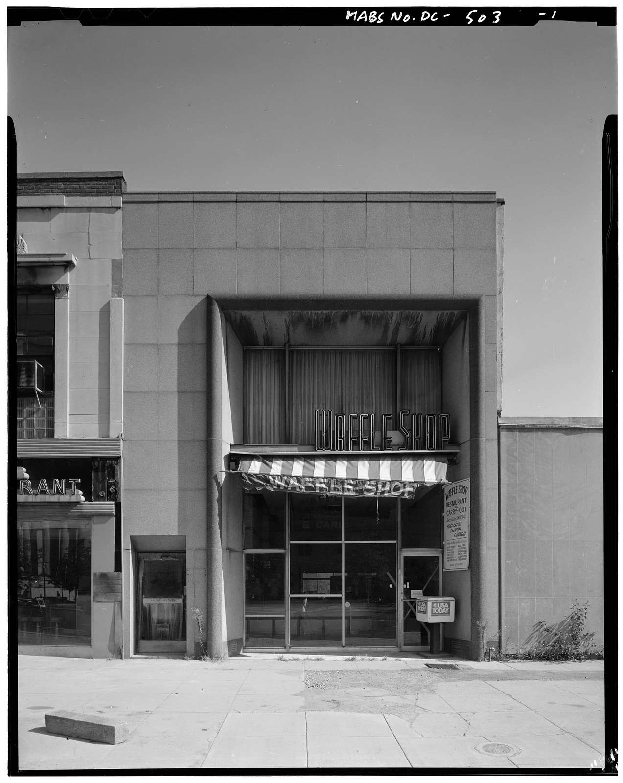 Waffle Shop, 619 Pennsylvania Avenue Northwest, Washington, District of Columbia, DC