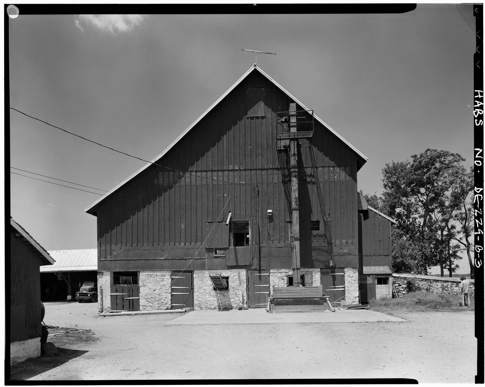 Woodlawn, Barn, Saint Georges Hundred, County Route 429, East of Route 428, Odessa, New Castle County, DE