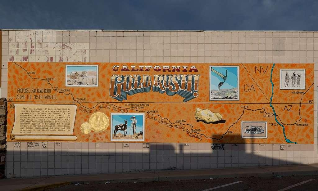 California Gold Rush mural, Barstow, California