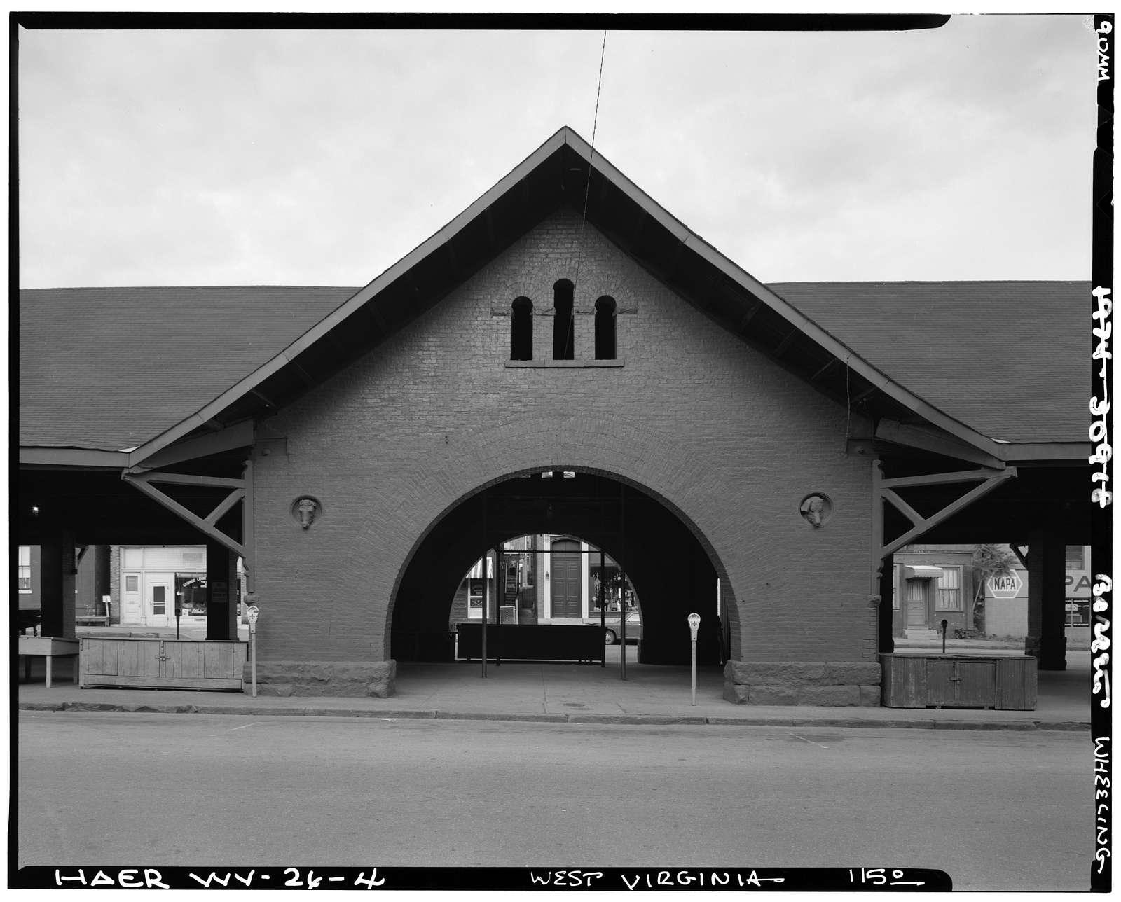 Centre Market, Market Street between Twenty-second & Twenty-third Streets, Wheeling, Ohio County, WV