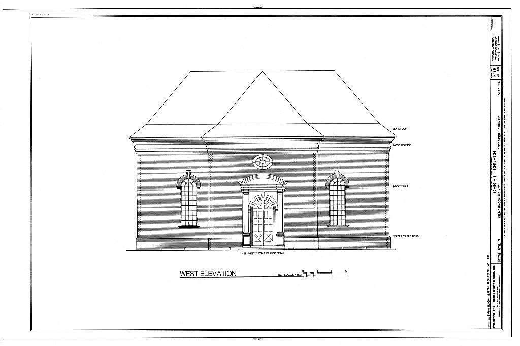 Christ Church, State Route 3, Kilmarnock, Lancaster County, VA