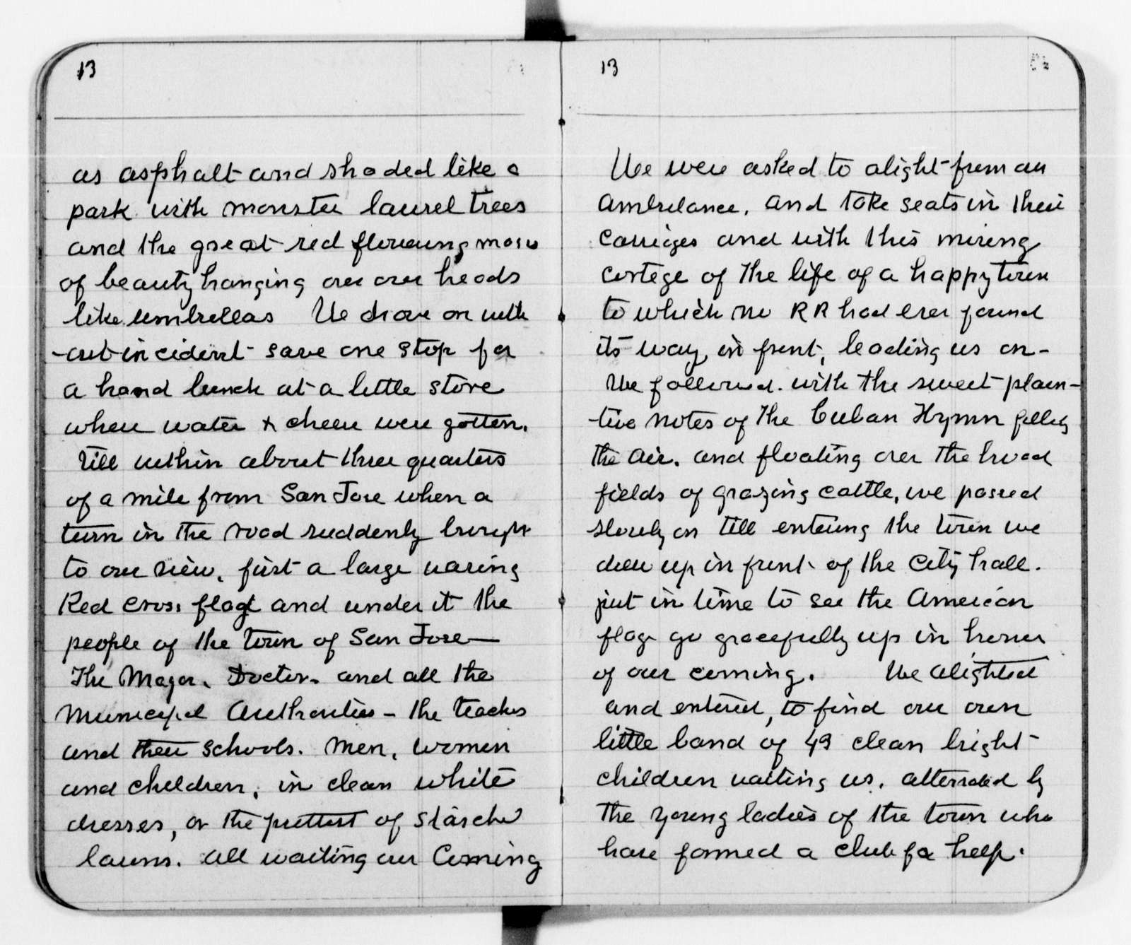 Clara Barton Papers: Diaries and Journals: 1899, June 1-Oct. 13