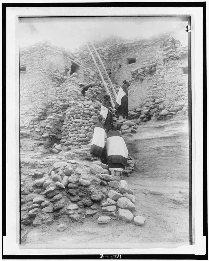 Cliff perched homes--Hopi