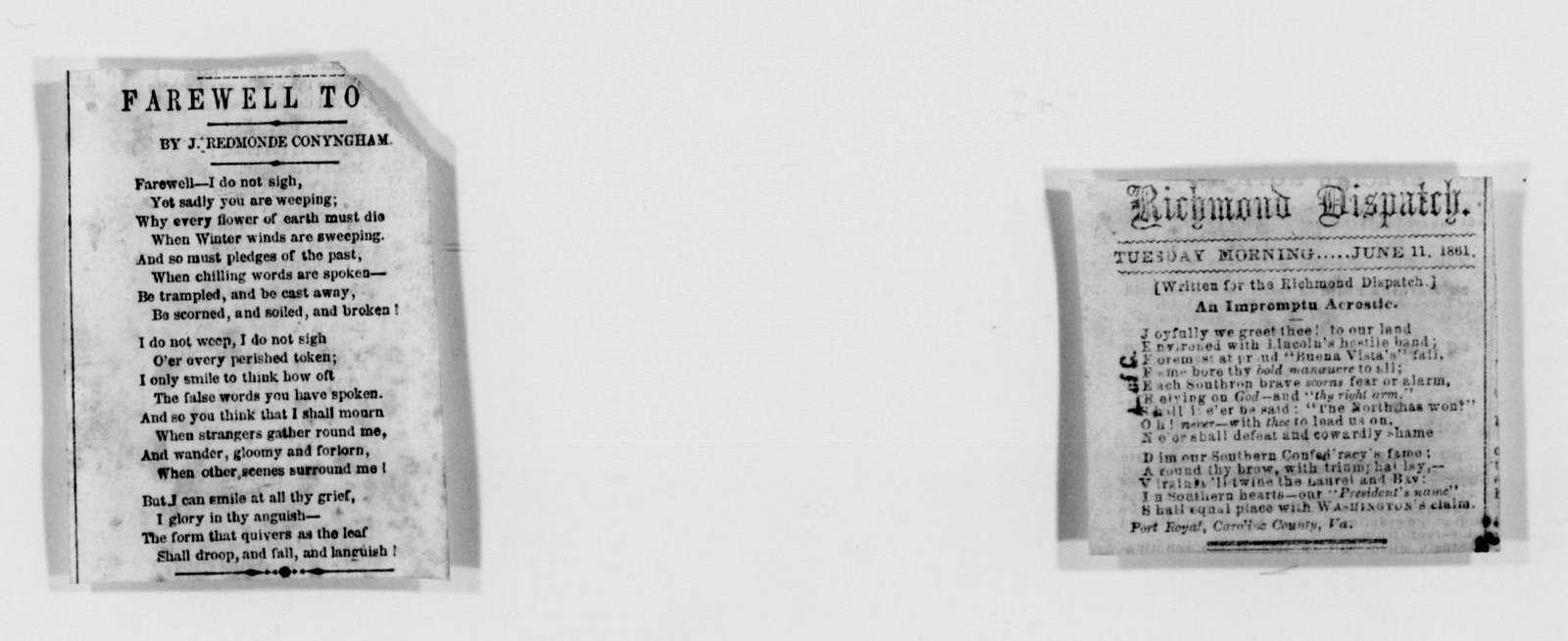 Confederate States of America records: Microfilm Reel 27