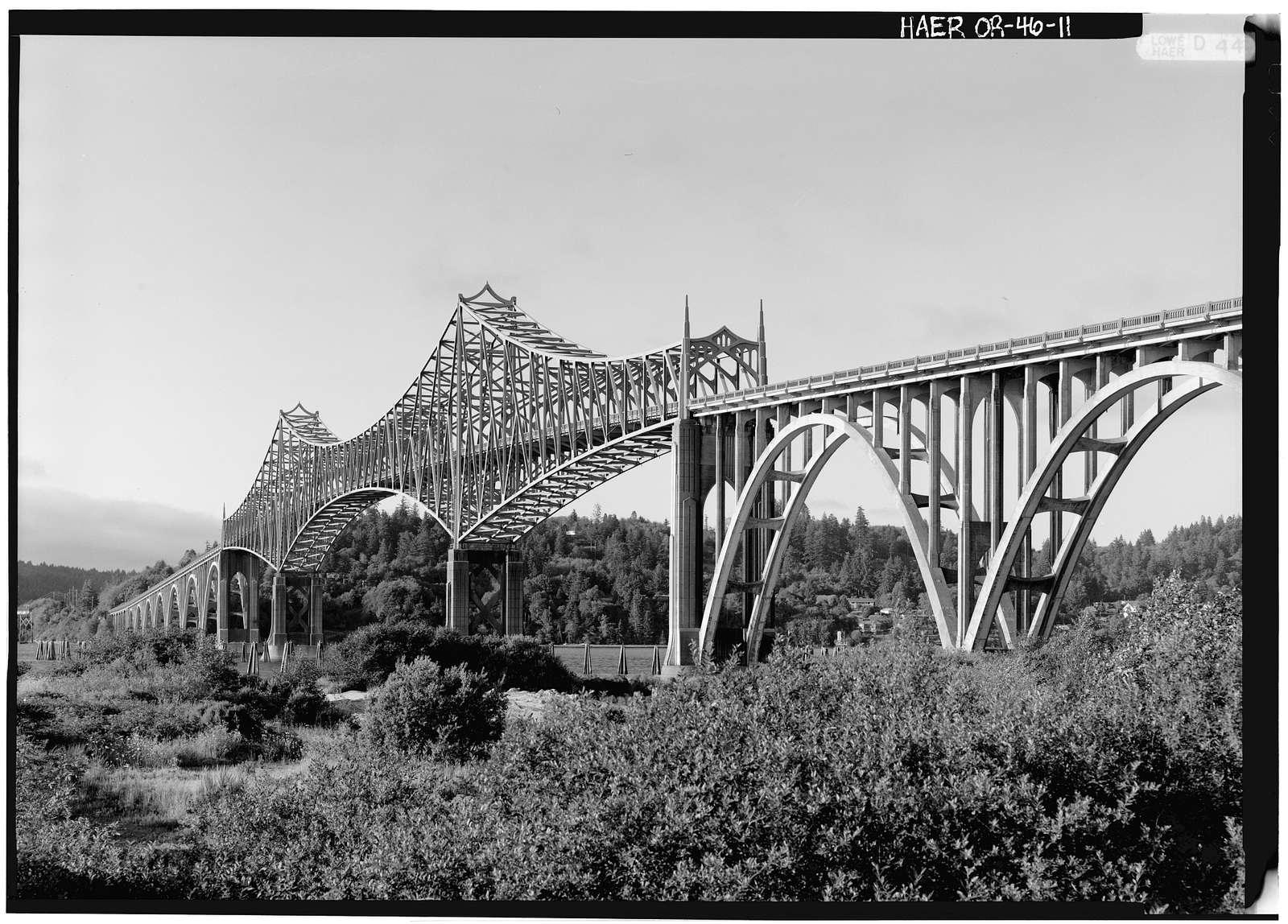Coos Bay Bridge, Spanning Coos Bay on Oregon Coast Highway, North Bend, Coos County, OR