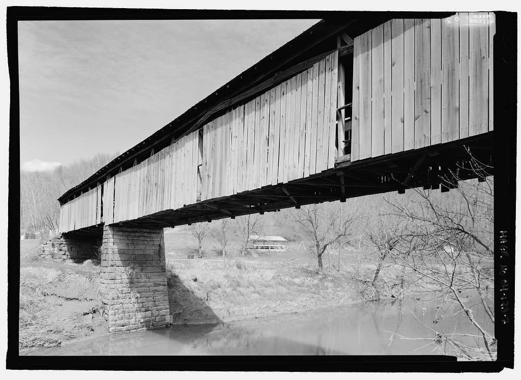 Crum Bridge, Spanning Little Muskingum River, TR 384A (formerly Old Camp Road), Rinard Mills, Monroe County, OH