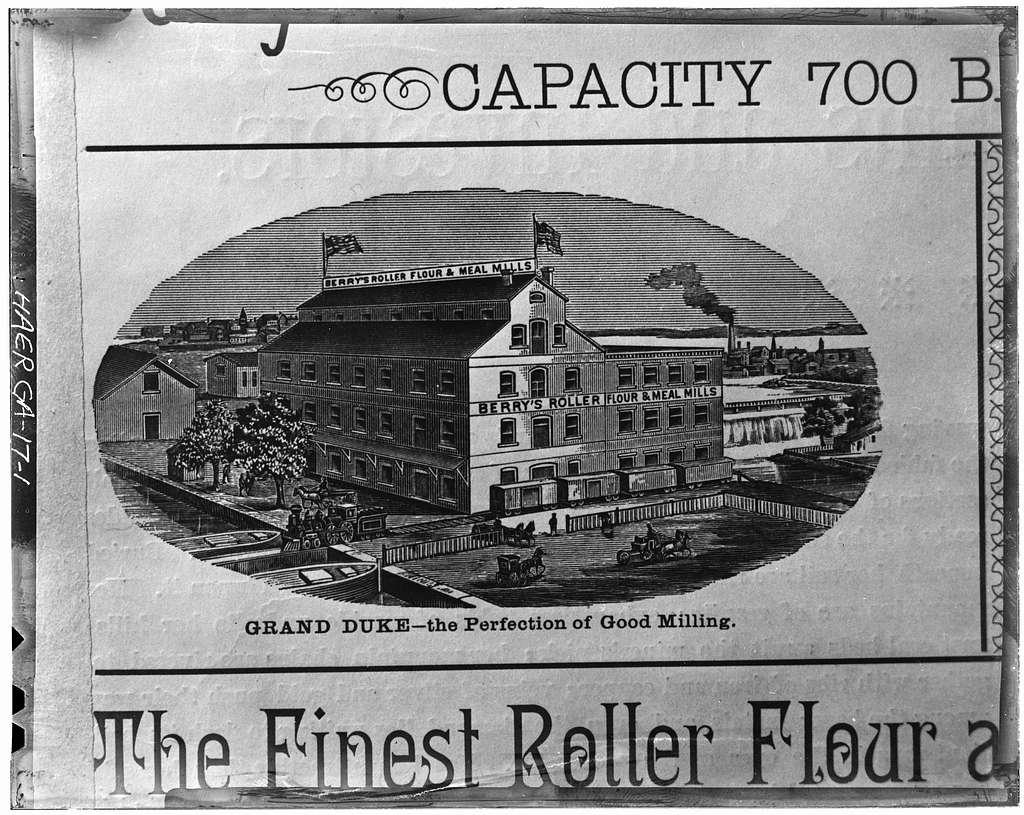 Cunningham's Flour Mill, Augusta Canal, Augusta, Richmond County, GA