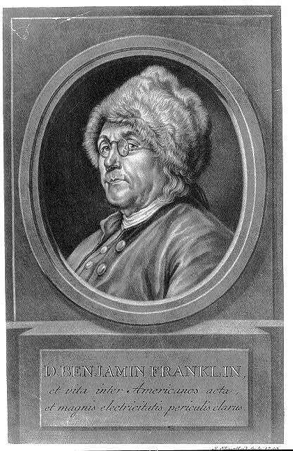 D. Benjamin Franklin, et vita inter Americanos acta, et magnis electricitatis periculis clarus / J. Elias Haid sculp., 1780.