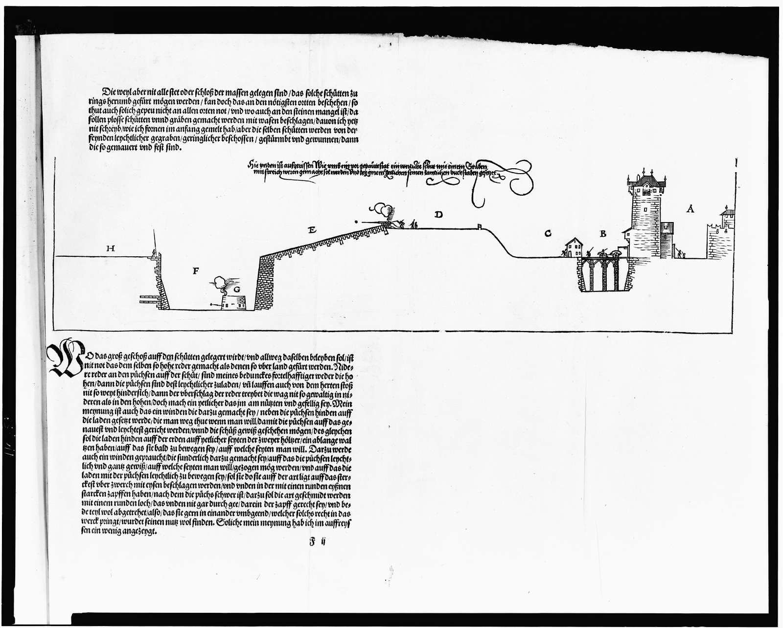 [Design by Albrecht Dürer for 16th century fortification]