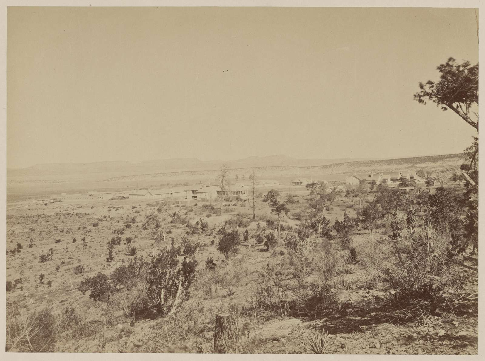 Distant view of Fort Wingate, New Mexico, 1873 / T. H. O'Sullivan, photographer.