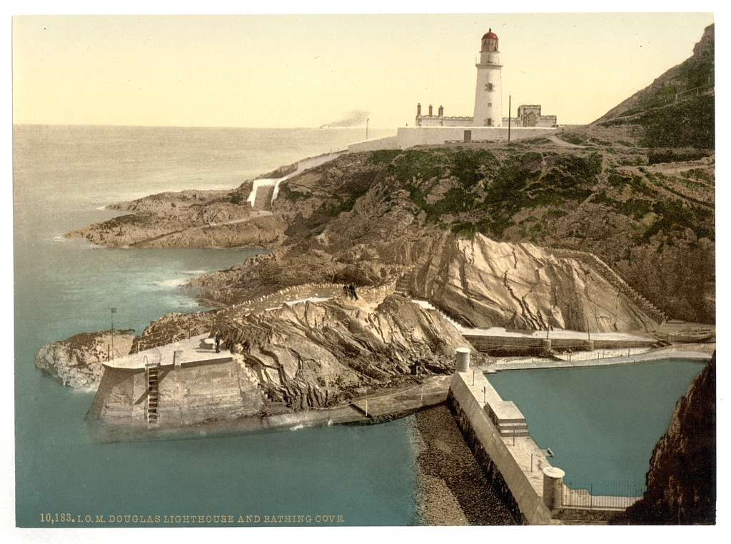[Douglas Lighthouse and bathing cove, Isle of Man]