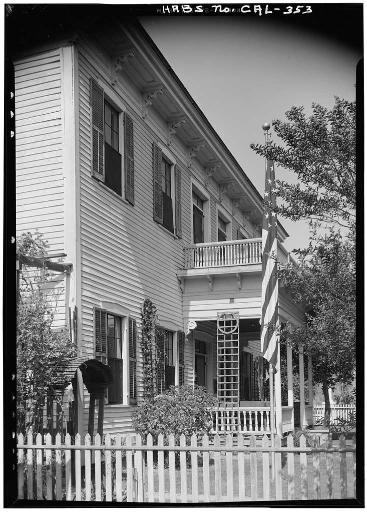 Drum Barracks Officers' Quarters, 1053-1955 Cary Avenue, Los Angeles, Los Angeles County, CA
