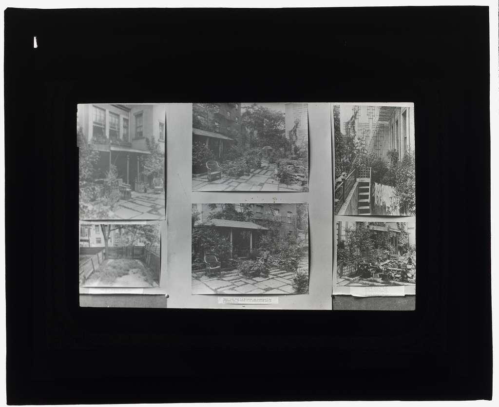 "[""Flagstones,"" Charles Clinton Marshall house, 117 West 55th Street, New York, New York. Tea house, laundry, and terrace]"