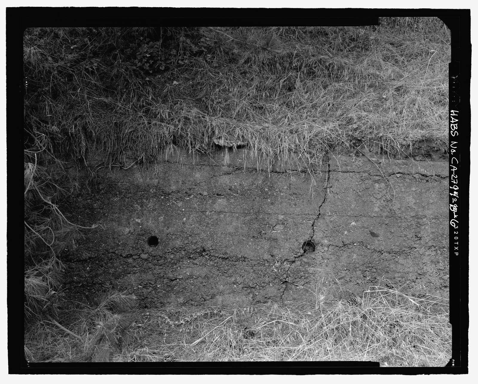 Fort Barry, Bonita Ridge Access Road, Retaining Wall, Point Bonita, Marin Headlands, Sausalito, Marin County, CA