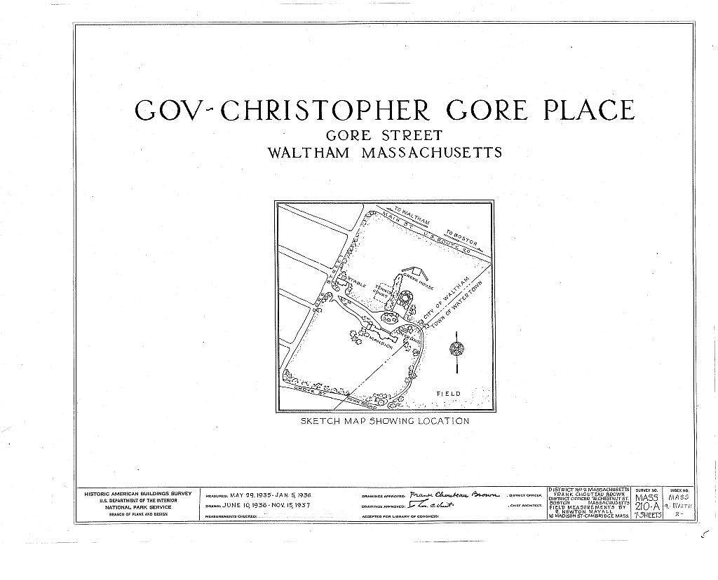 Governor Christopher Gore Place, Gore Street, Waltham, Middlesex County, MA