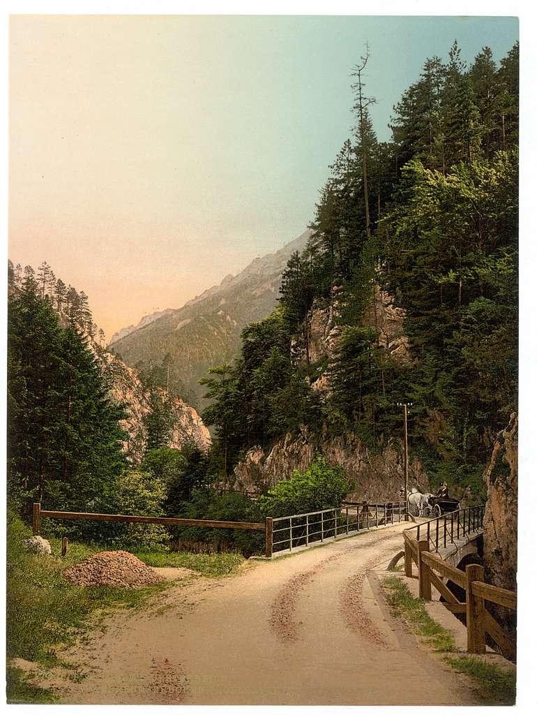 [Hoellenthal (i.e., Höllental), Holzsteg, Lower Austria, Austro-Hungary]