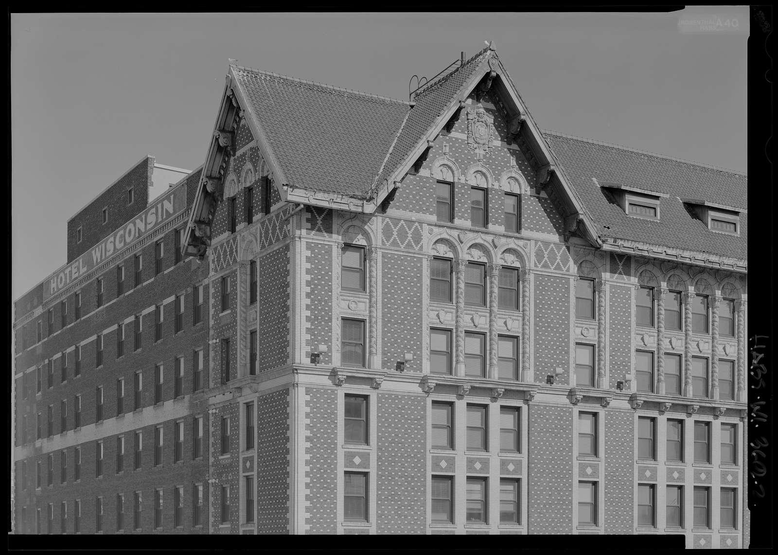 Hotel Wisconsin, 720 North Third Street, Milwaukee, Milwaukee County, WI