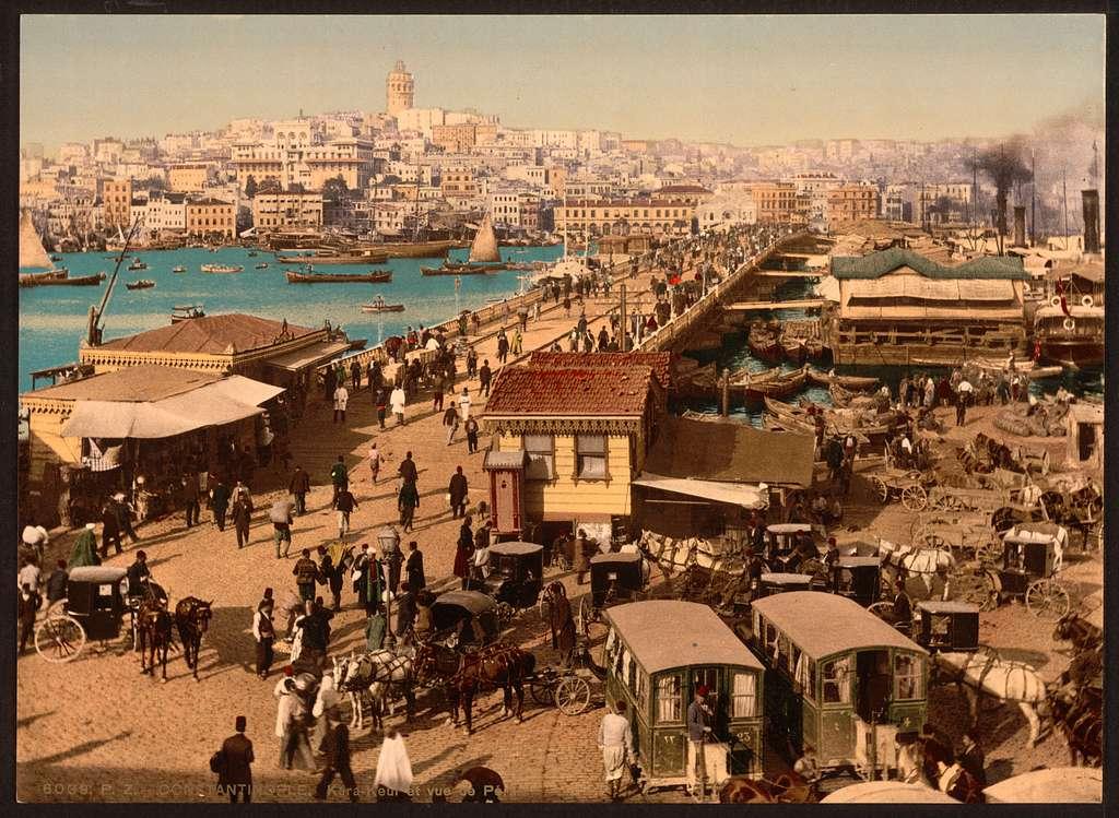 [Kara-Keui (Galata) and view of Pera, Constantinople, Turkey]