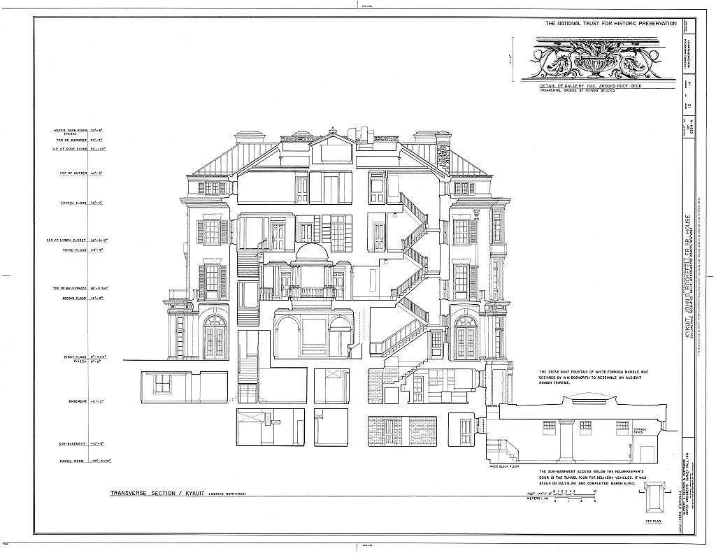 Kykuit, John D. Rockefeller, Sr. House, 200 Lake Road, Pocantico Hills, Westchester County, NY