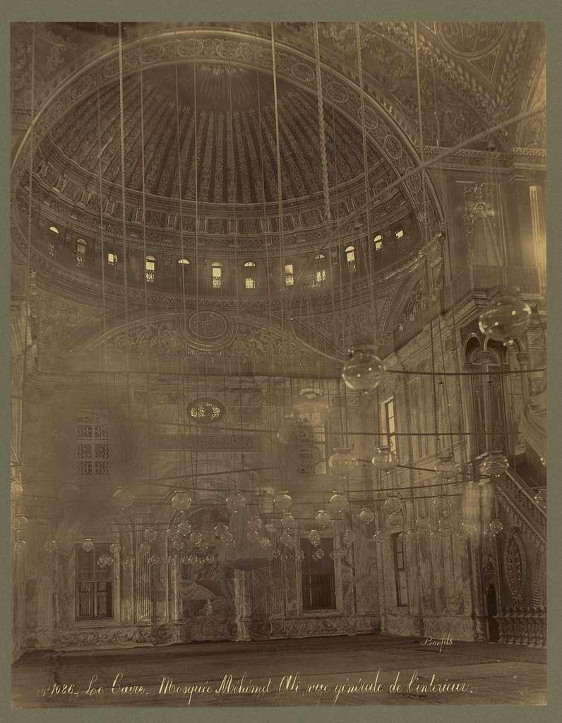 Le Caire. Mosquée Méhémét-Ali, vue générale de l'intérieur / Bonfils.