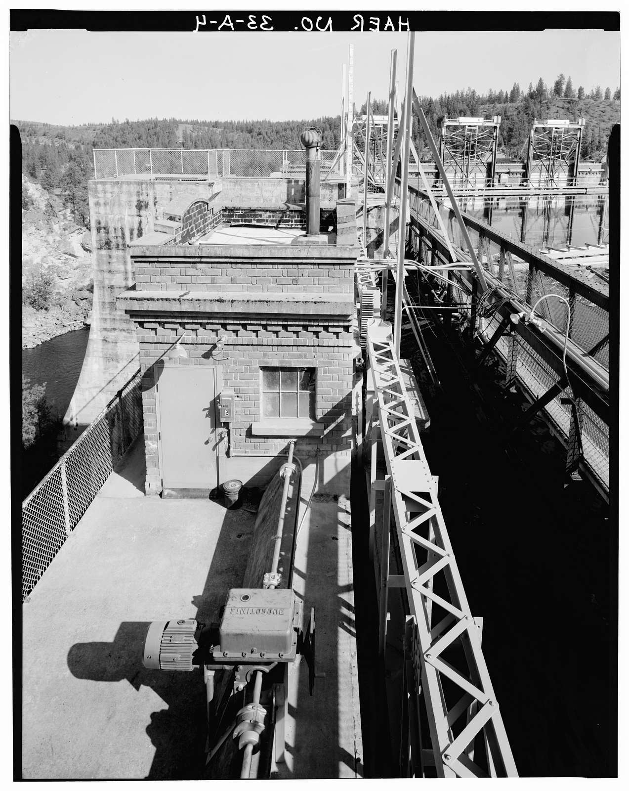 Long Lake Hydroelectric Plant, Spillway Dam, Spanning Spokane River, Ford, Stevens County, WA