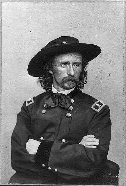 [Major General George Armstrong Custer of 2nd Regular Army Cavalry Regiment, 5th Regular Army Cavalry Regiment, Aide-de-Camp U.S. Volunteers Infantry Regiment, and General Staff U.S. Volunteers Infantry Regiment, in uniform]