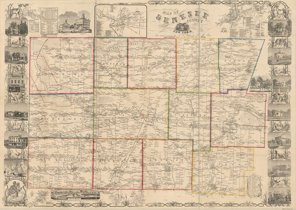 Map of Genesee County, New York : from actual surveys /