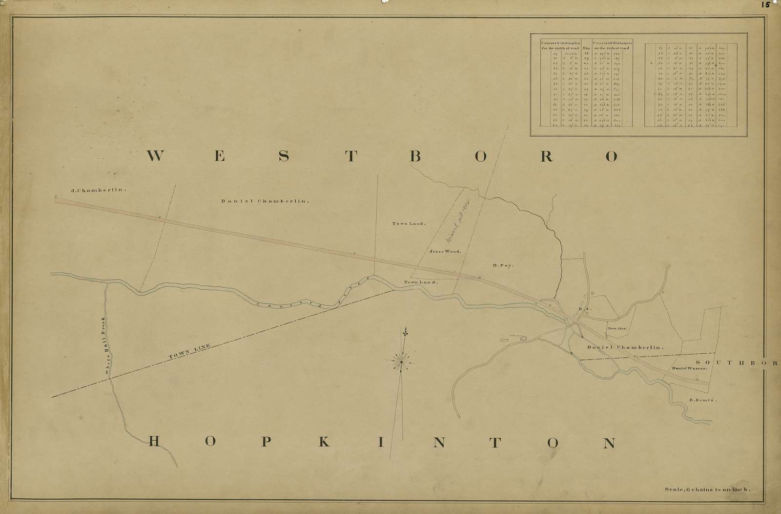 Maps showing the location of the Boston & Worcester Rail Road : copied from the maps in the offices of the clerks of the county commissioners in the several counties /