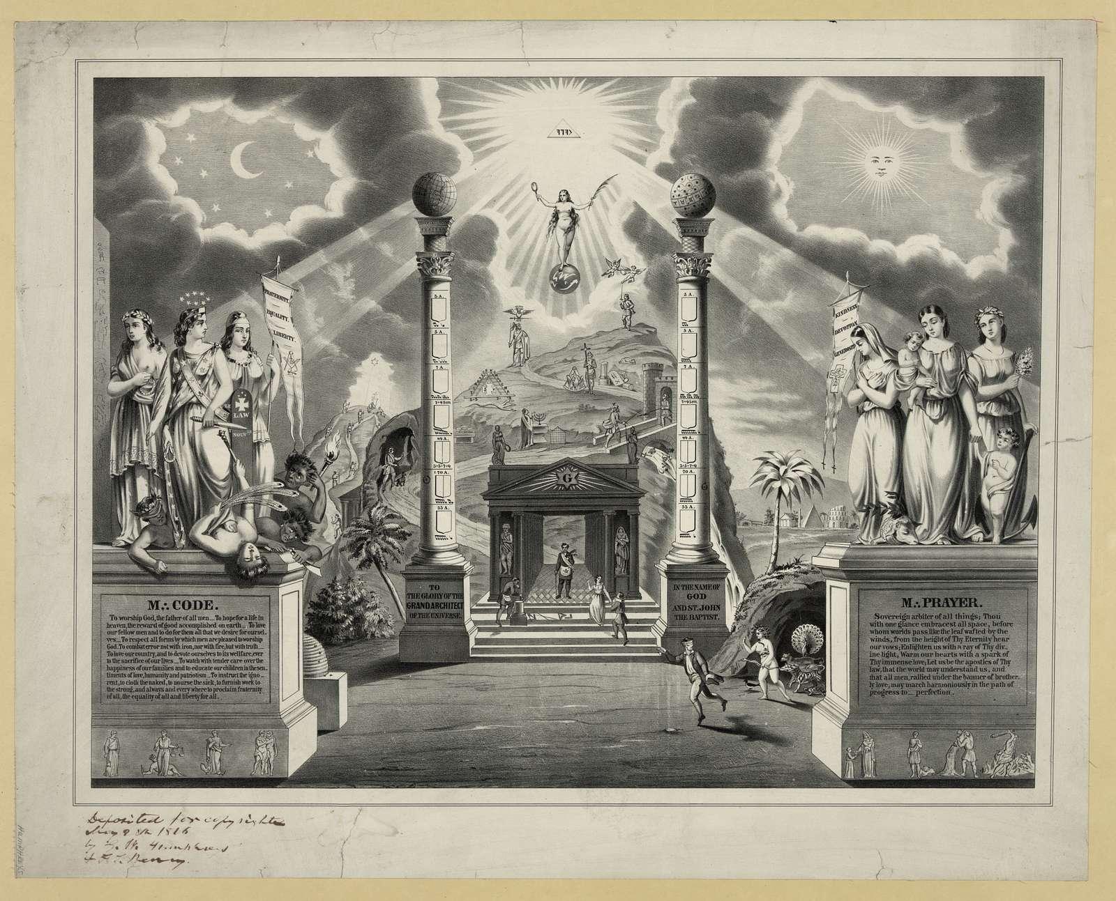 [Masonic chart]