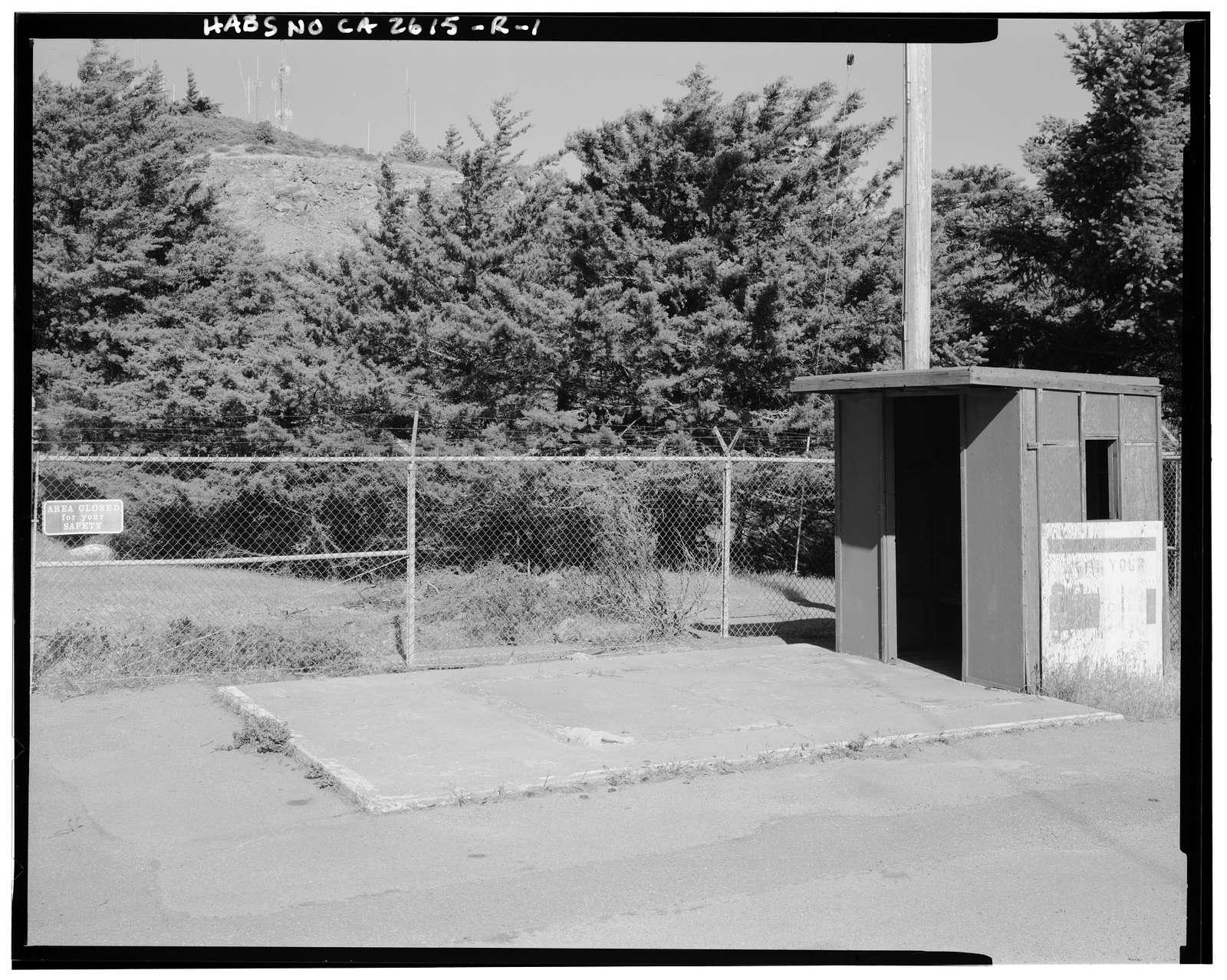Mill Valley Air Force Station, Gatehouse, East Ridgecrest Boulevard, Mount Tamalpais, Mill Valley, Marin County, CA