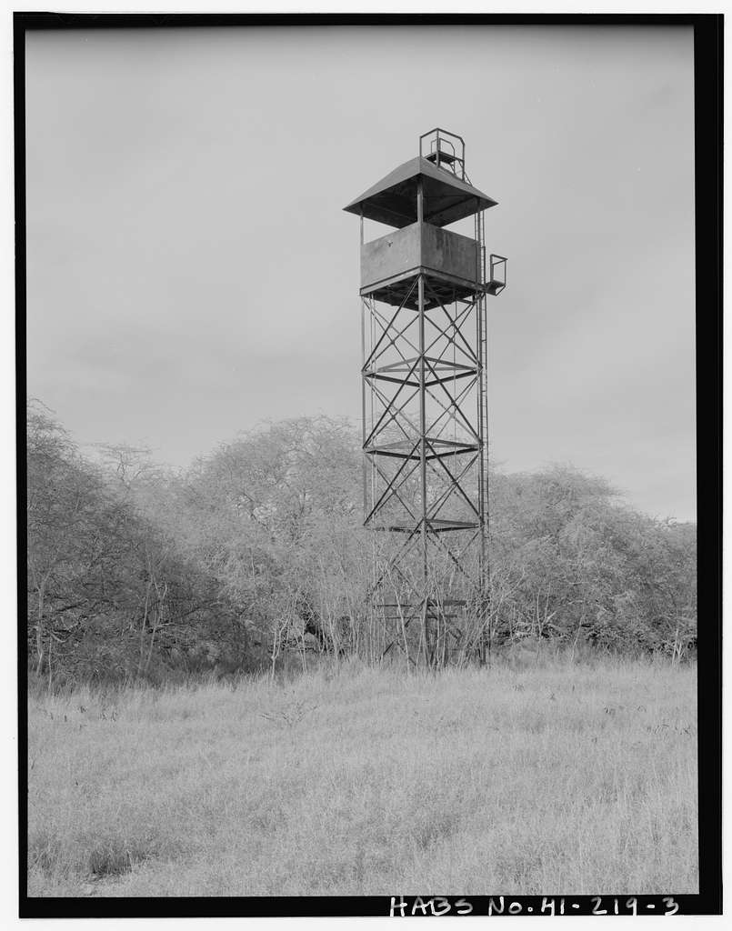 Naval Magazine Lualualei, West Loch Branch, Guard-Watch Tower Type, Near A Avenue between Fourth & Sixth Streets, Ninth Street & D Avenue intersection, & F Avenue, Pearl City, Honolulu County, HI
