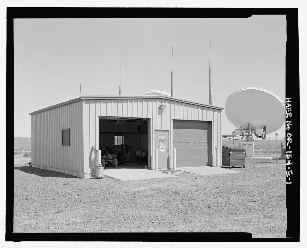 Over-the-Horizon Backscatter Radar Network, Christmas Valley Radar Site Transmit Sector Four Transmitter Garage, On unnamed road west of Lost Forest Road, Christmas Valley, Lake County, OR