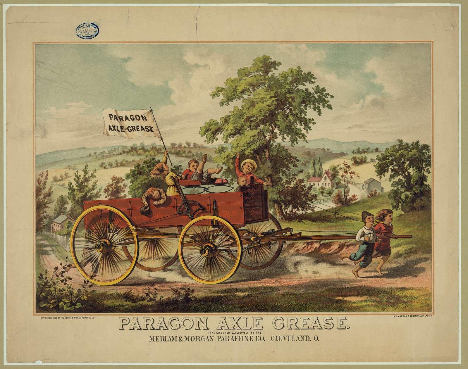 Paragon axle grease. Cleveland, O.