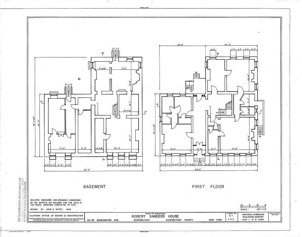 Robert Sanders House, 43-45 Washington Avenue, Schenectady, Schenectady County, NY