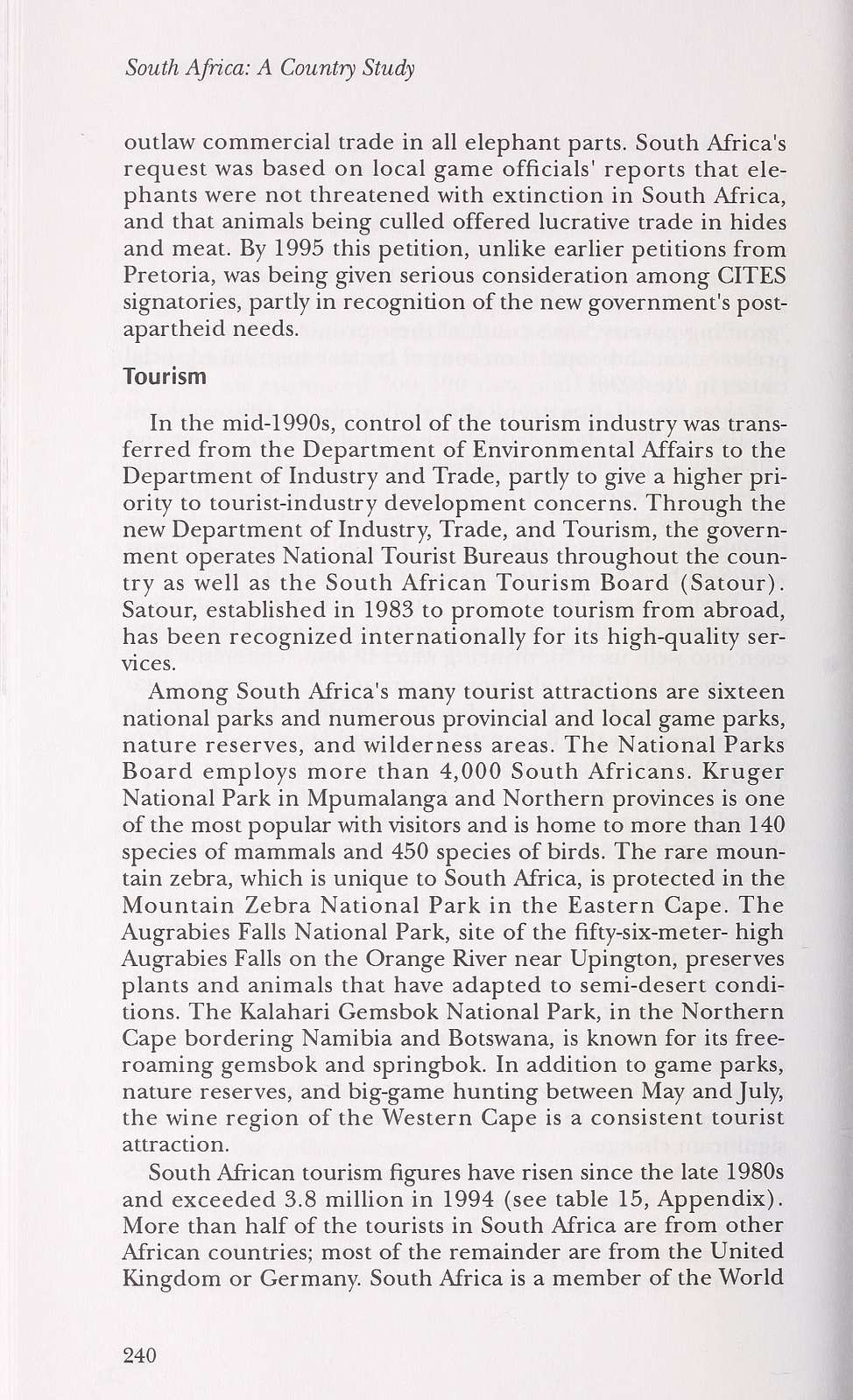 South Africa : a country study /