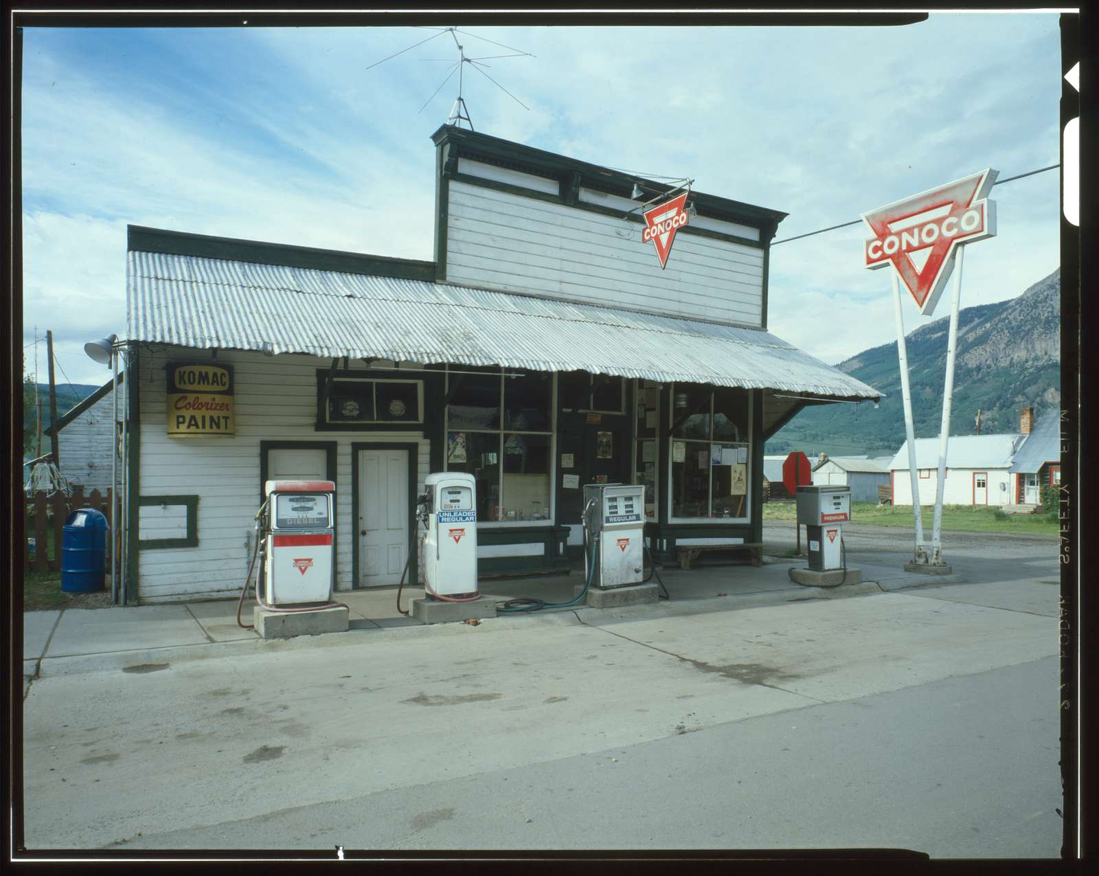 Tony's Conoco Service Station, Elk Avenue, Crested Butte, Gunnison County, CO