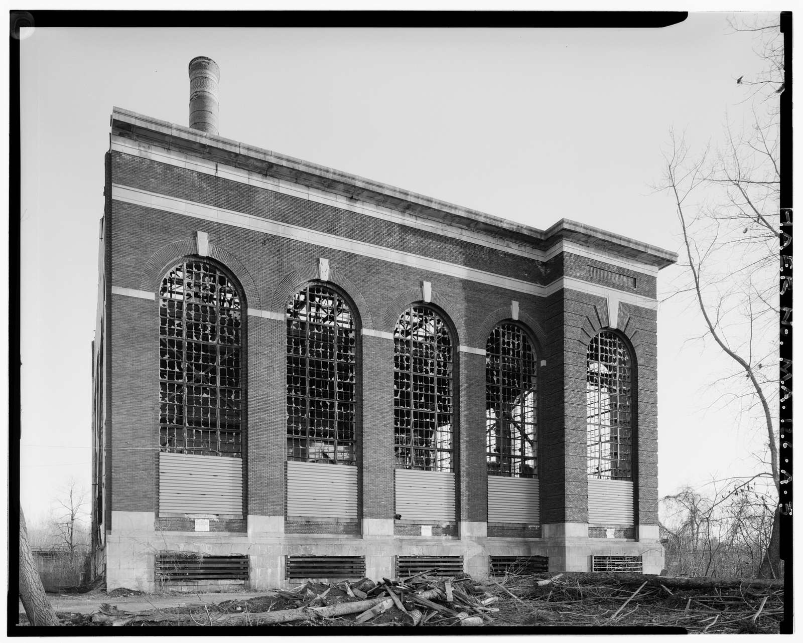 Turners Falls Power & Electric Company, Hampden Station, East bank of Connecticut River, Chicopee, Hampden County, MA