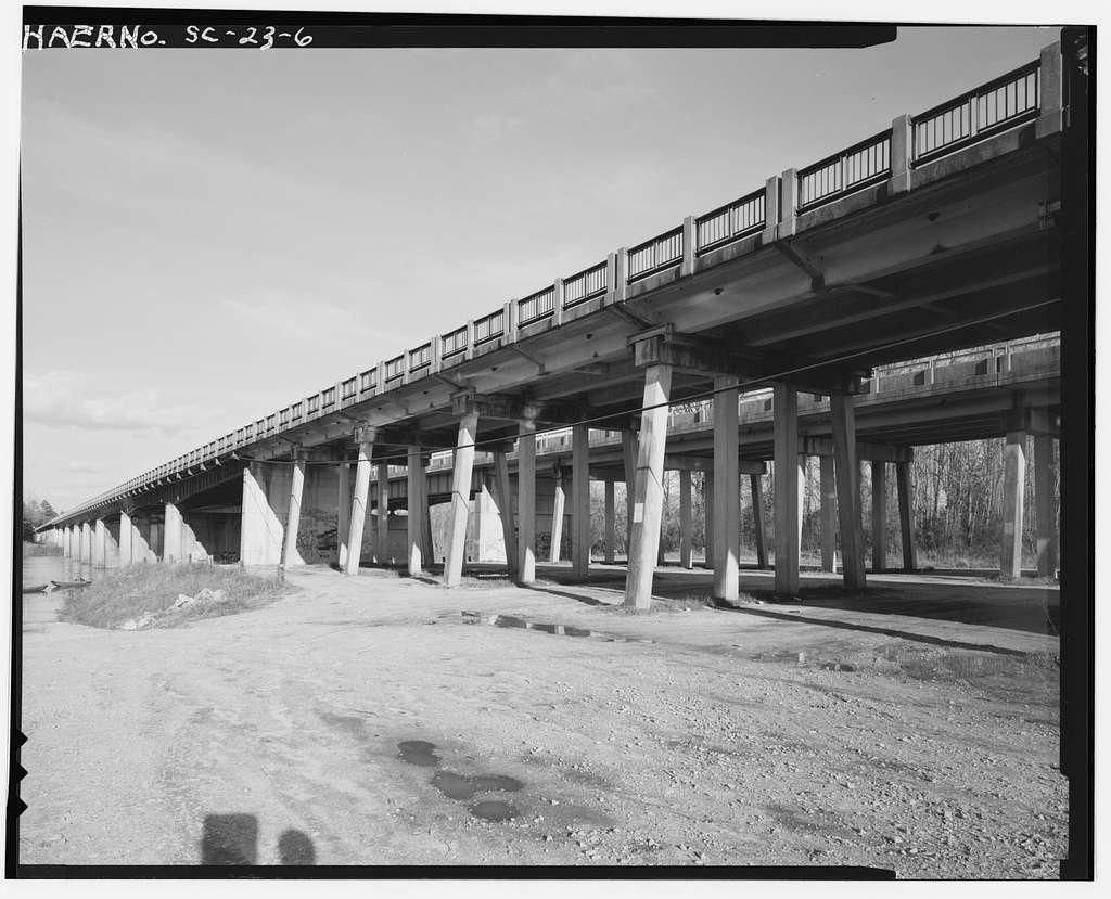U.S. Route 1-601 Bridge, U.S. Route 1, 601 spanning Wateree River, Camden, Kershaw County, SC